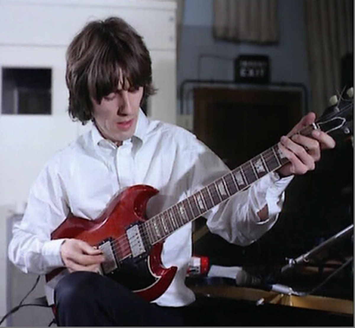 At the time George Harrison was probably the single most famous guitarist in the world.