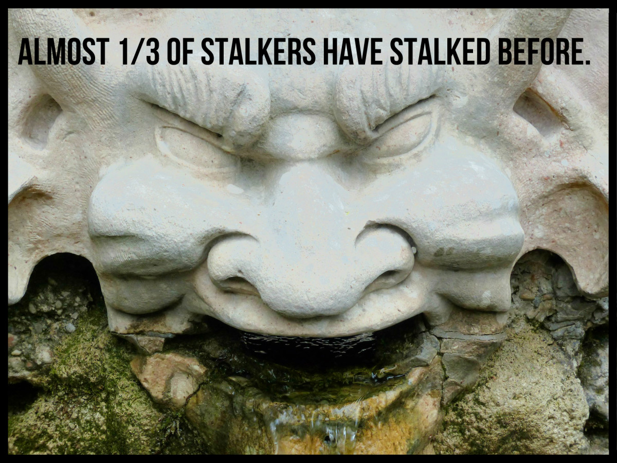 Almost 1/3 of stalkers have stalked before.