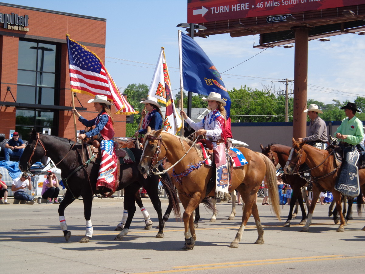 Celebrating freedom during a 4th of July parade in Mandan, North Dakota