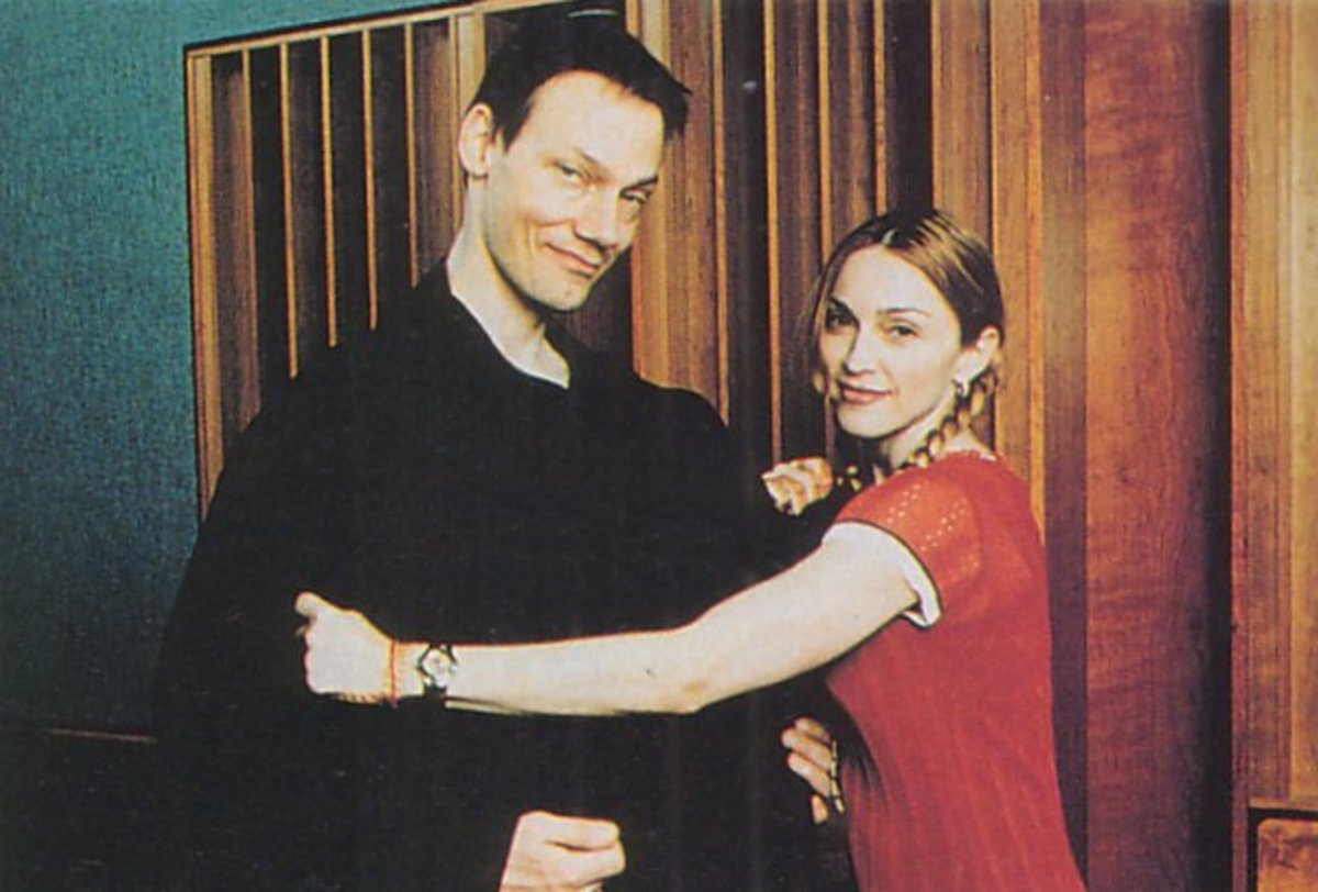 Madonna and producer William Orbit during the making of Ray Of Light.