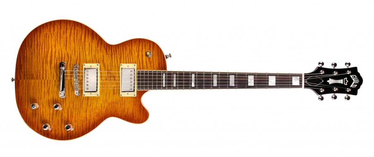 Modern Guild Bluesbird with sunburst finish on a maple top