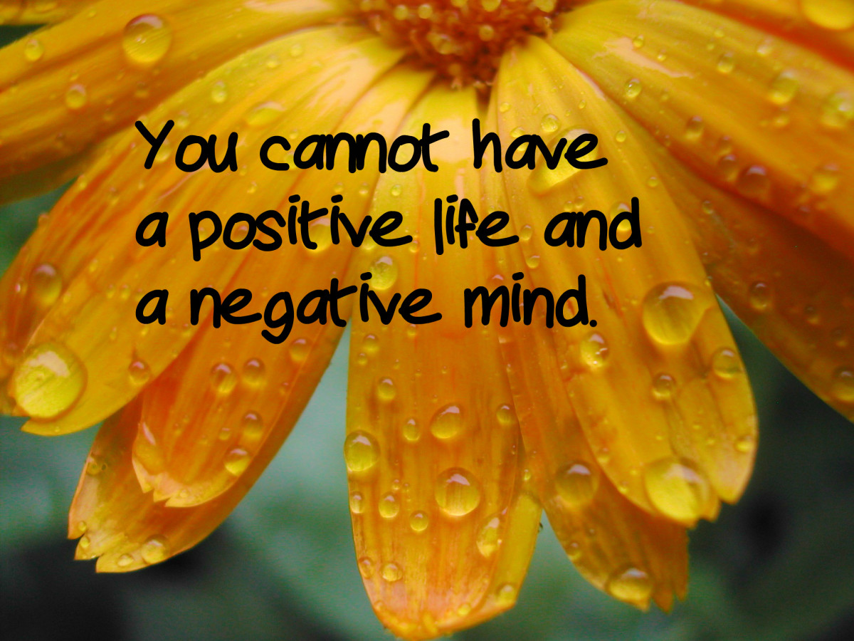 """You cannot have a positive life and a negative mind."" - Joyce Meyer, American author"