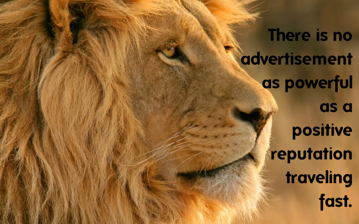"""There is no advertisement as powerful as a positive reputation traveling fast."" - Brian Koslow, American author"
