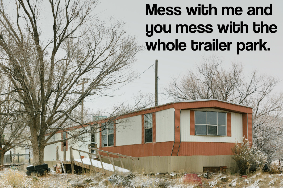 Mess with me and you mess with the whole trailer park.