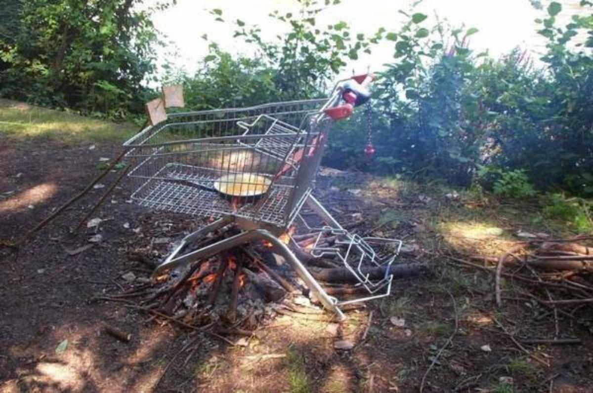 Redneck grill.  Cookout anyone?