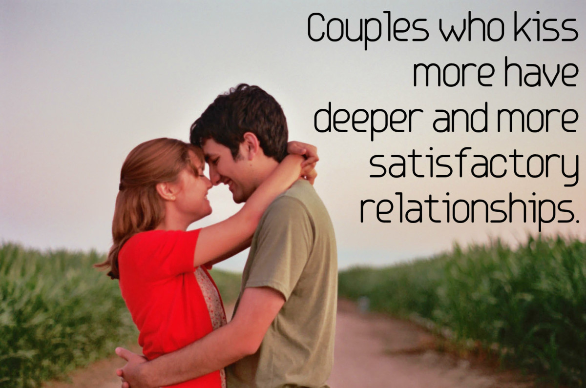 Couples who kiss more have deeper and more satisfactory relationships.