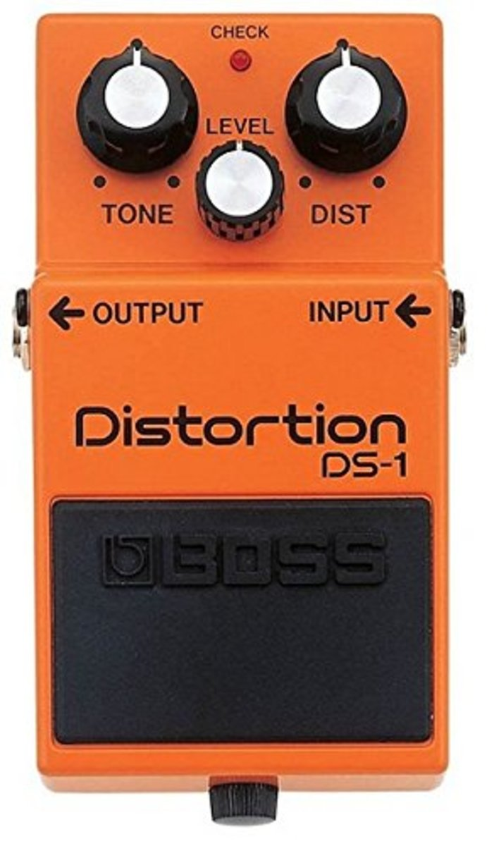 The bright orange of the Boss DS-1 has become a familiar sight on pedalboards over the past few decades.