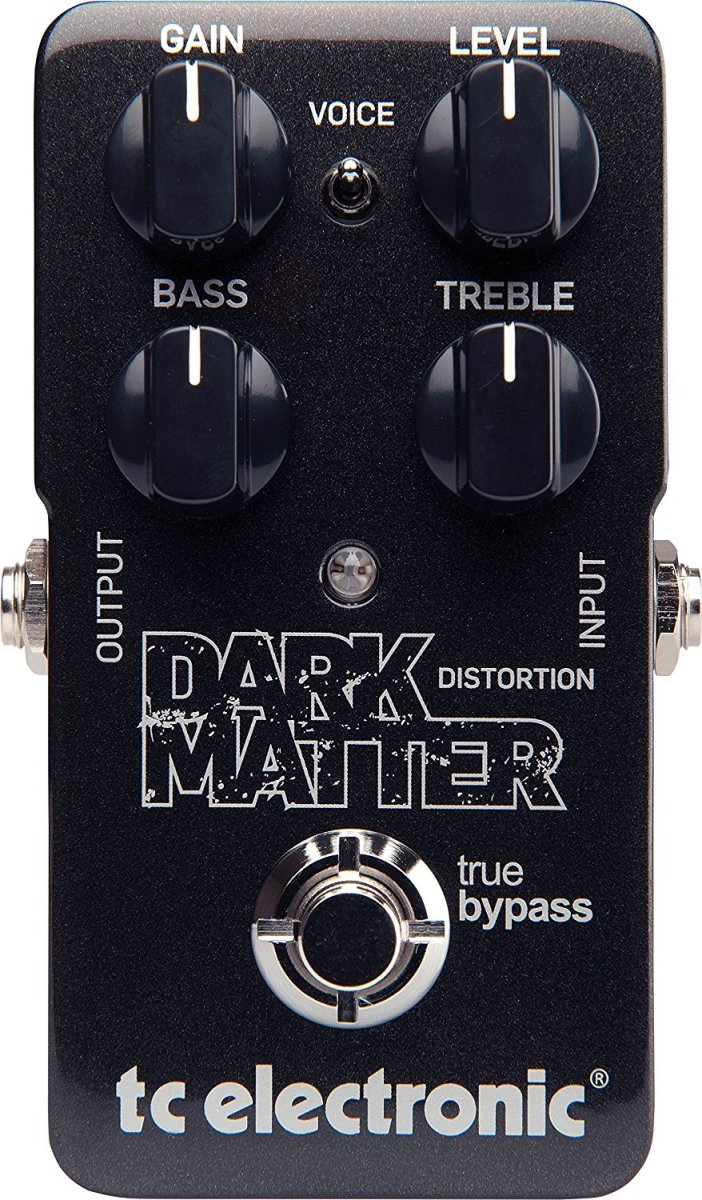 The TC Electronic Dark Matter Distortion Pedal looks as professional as it sounds.