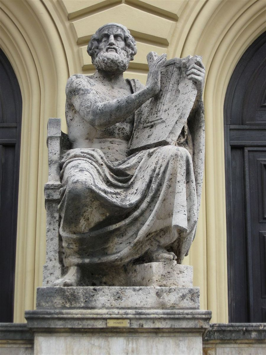 Statue of Homer playing the Lyre, Munich, Germany