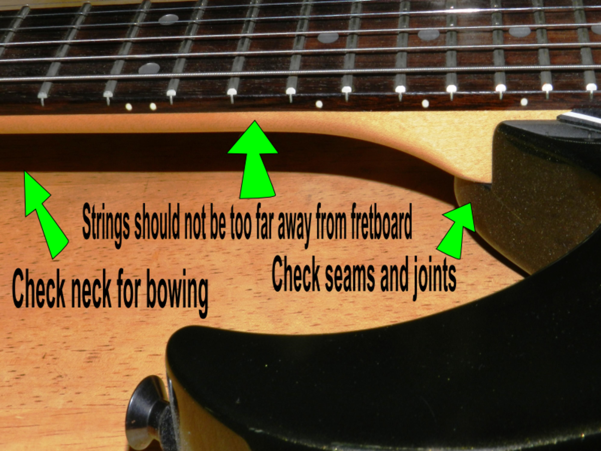 Know what to look for when checking out a guitar.