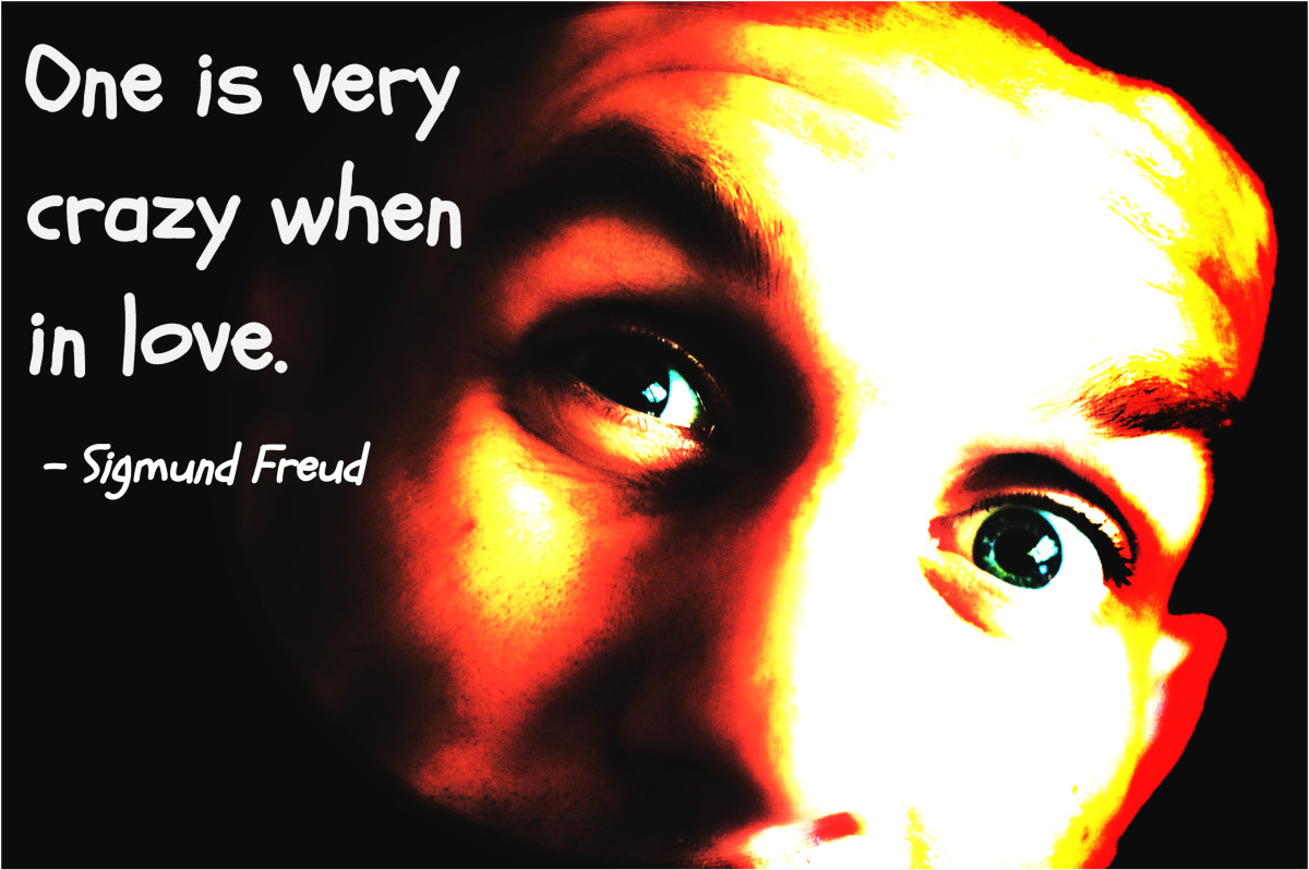 """""""One is very crazy when in love."""" - Sigmund Freud, Austrian neurologist and founder of psychoanalysis"""