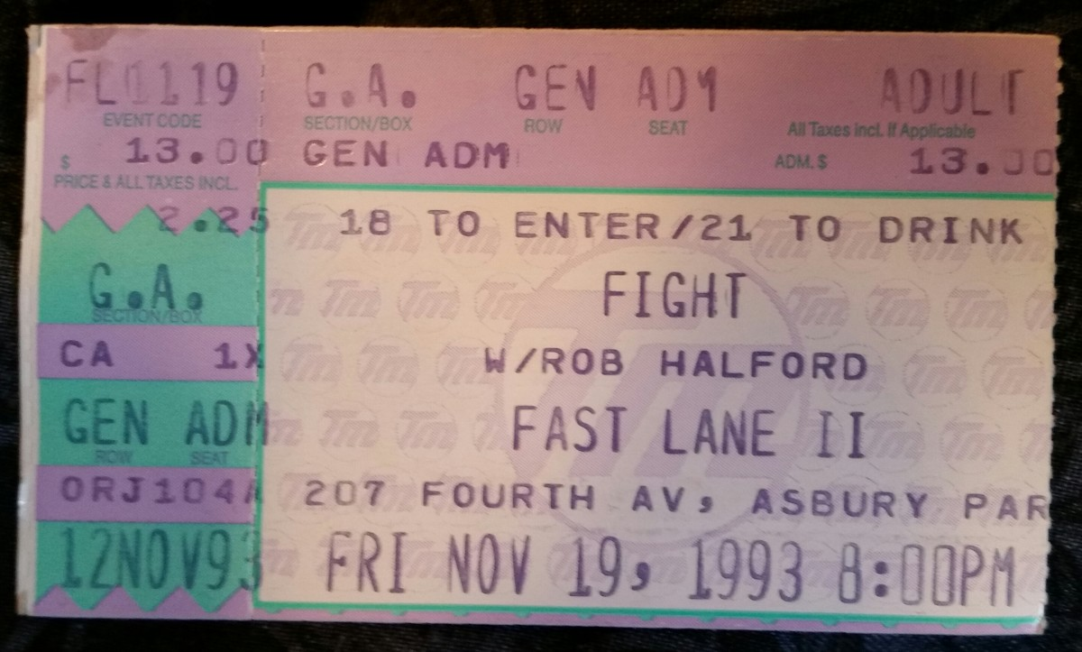 My ticket stub from Fight in Asbury Park, 1993