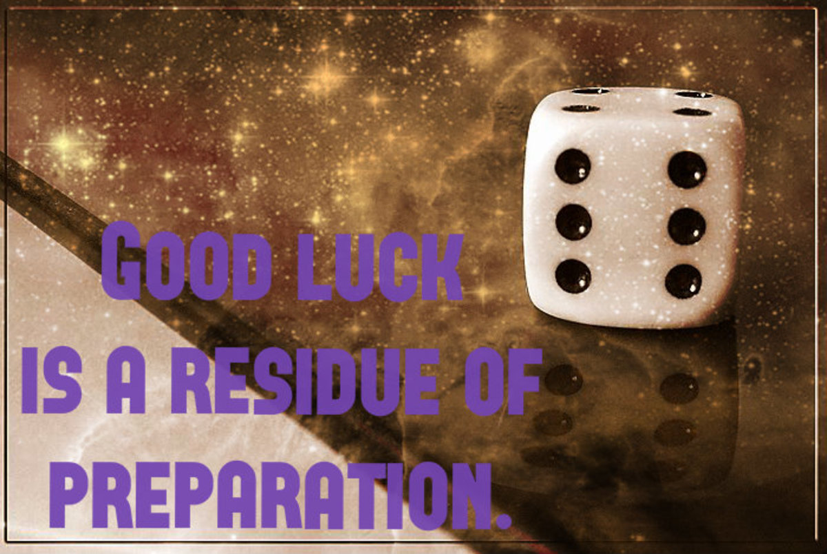 """Good luck is a residue of preparation."" - Jack Youngblood, American football player"