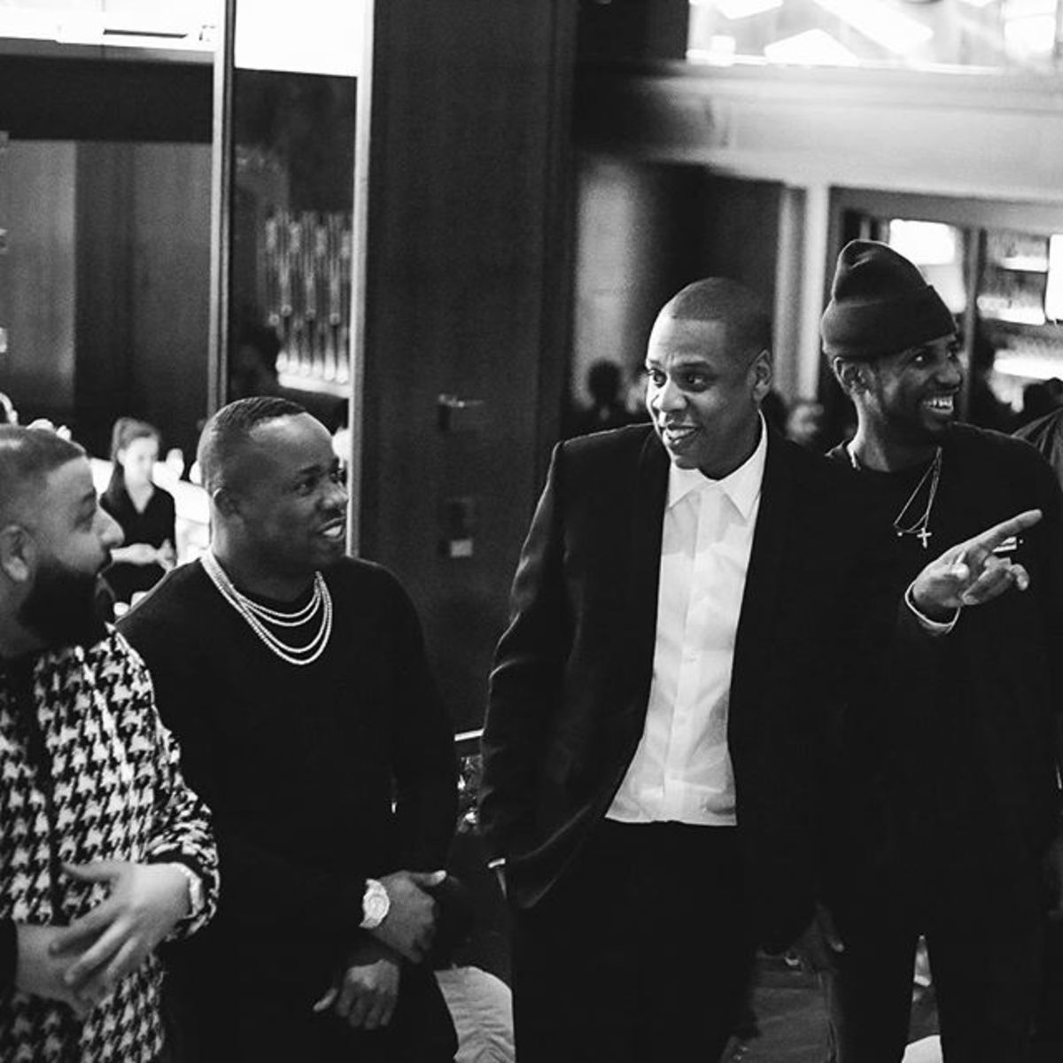 Left to Right: DJ Khaled, Yo Gotti, Jay Z and Fabolous
