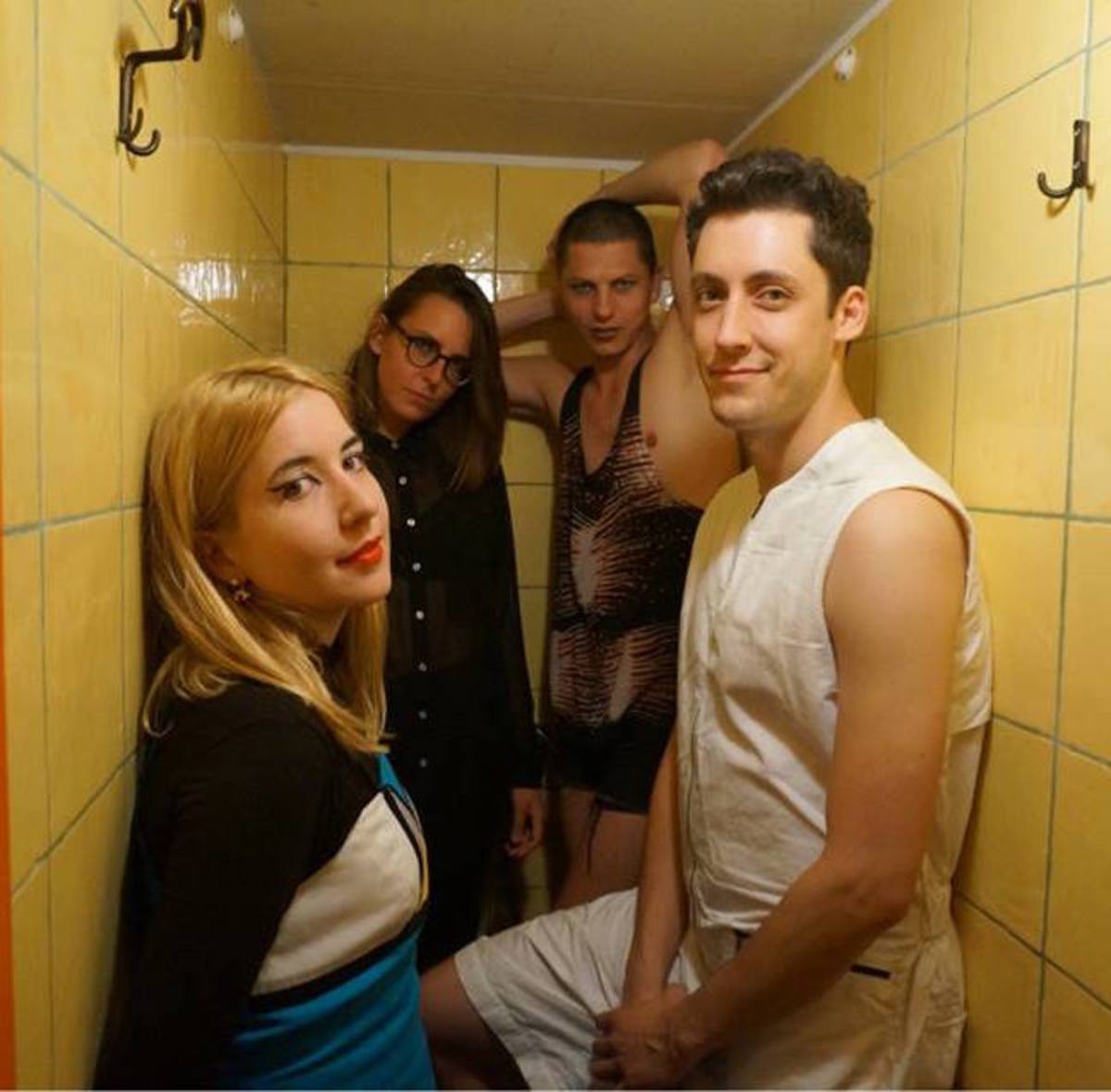 Austra (Left to Right): Katie Stelmanis, Maya Postepski, Dorian Wolf and Ryan Wonsiak.