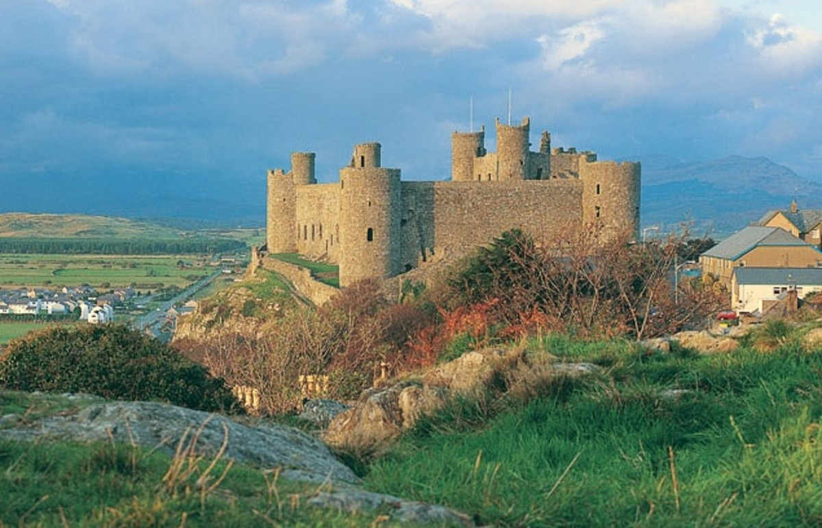 Harlech Castle as it exists today