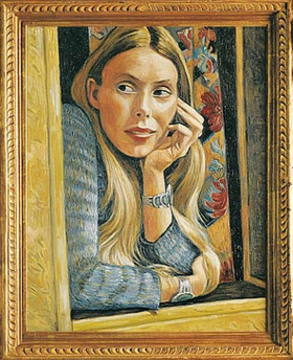 Self-portrait by Joni Mitchell