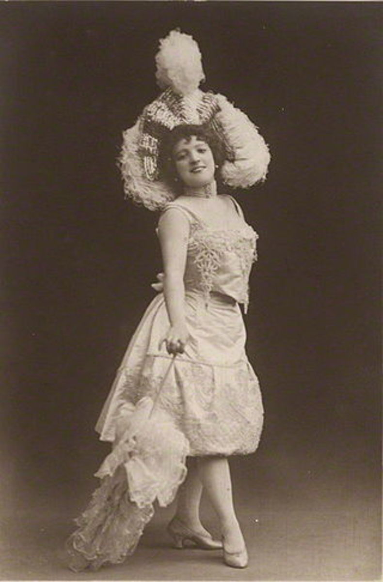 Marie Lloyd in the 1890s.