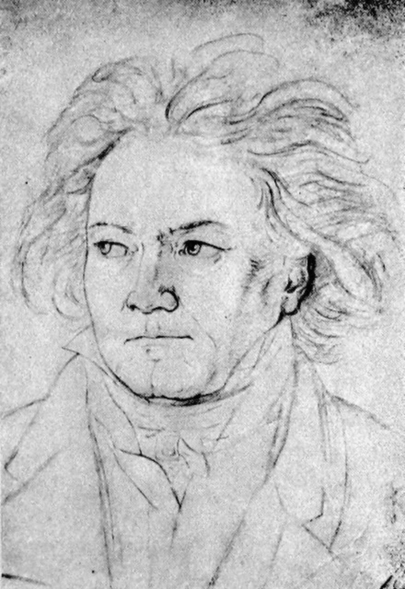 A sketch of Ludwig van Beethoven