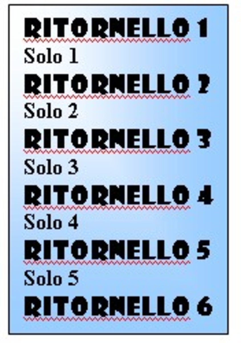 Ritornello alternates with string solos