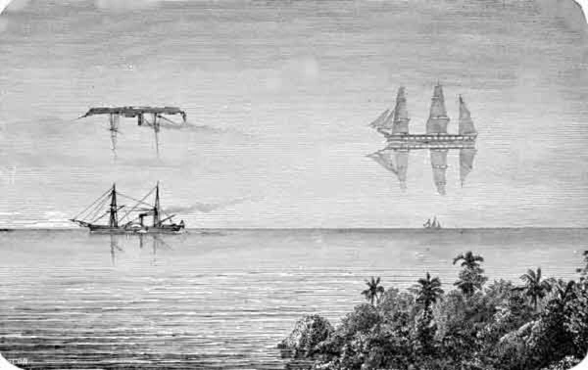 Mirage of ships , also called fata morgana which may have been the explanation for the apparition .