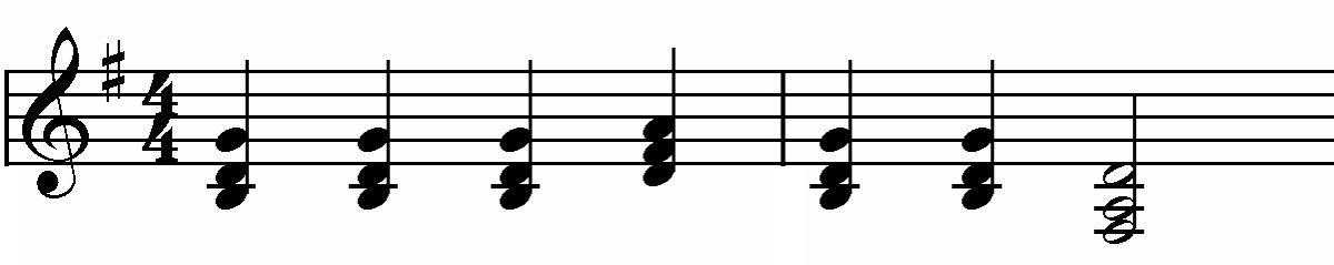 The tune from Good King Wenceslas using traditional harmony
