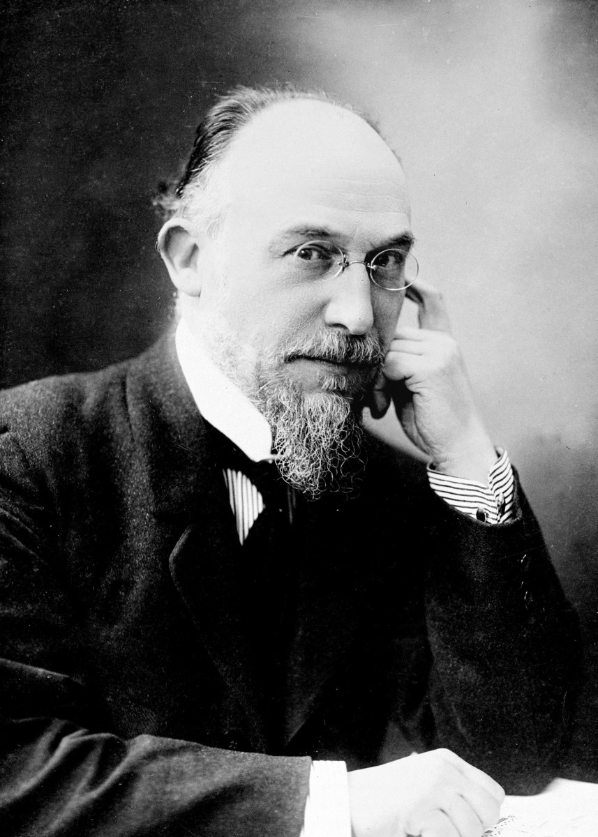 A portrait of Erik Satie (1866 - 1925)