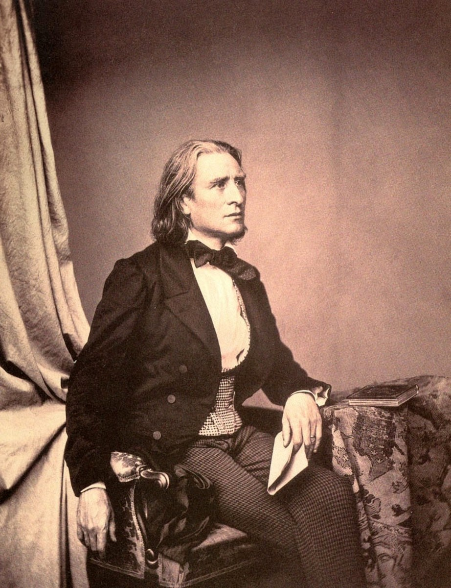 A photograph of the composer and pianist Franz Liszt taken by Franz Hanfstaengl in 1858