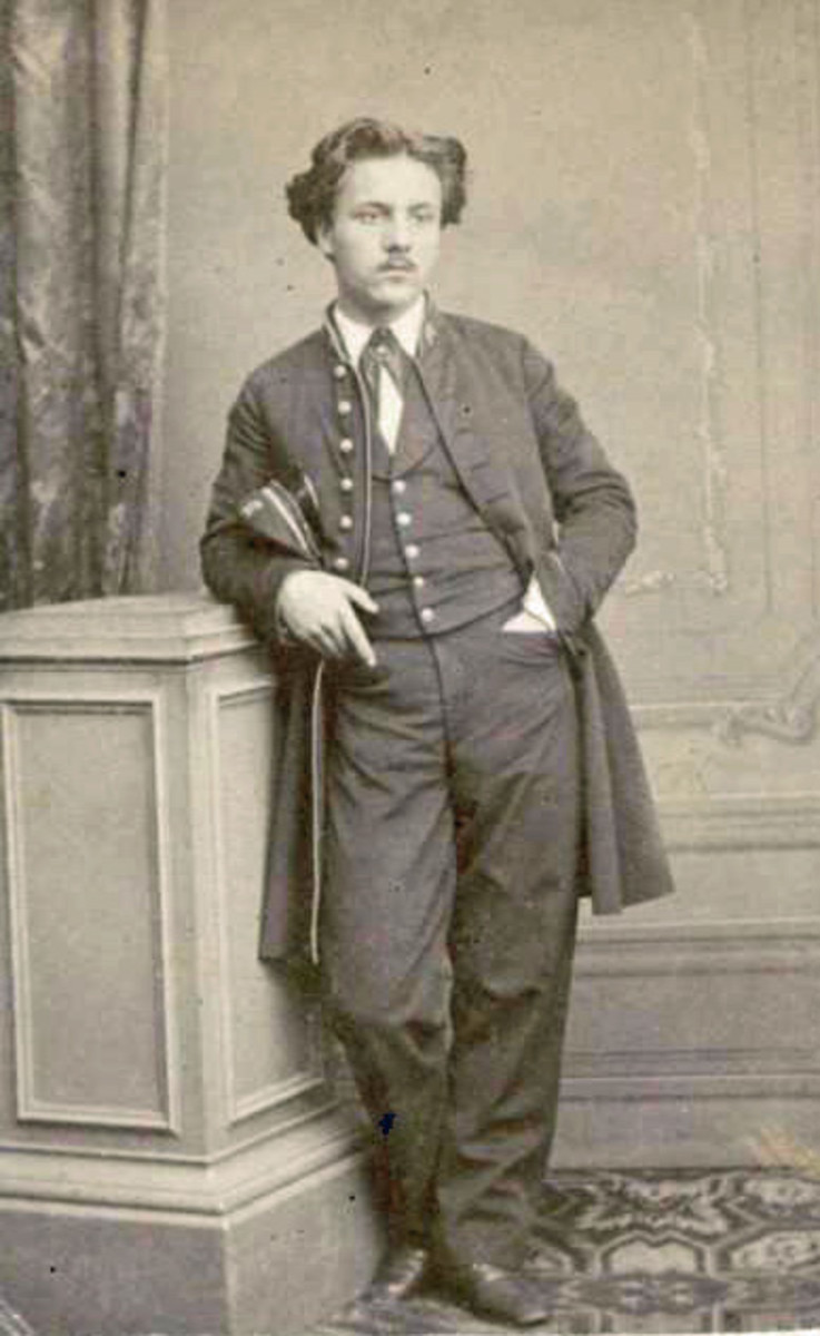Gabriel Faure (1845 - 1924) in the uniform of a student at the Ecole Niedermeyer