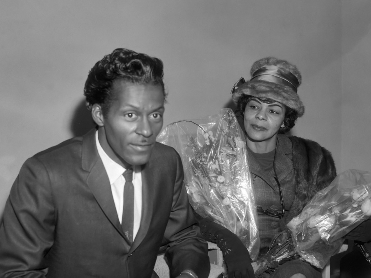 Chuck Berry with sister Lucy Ann,