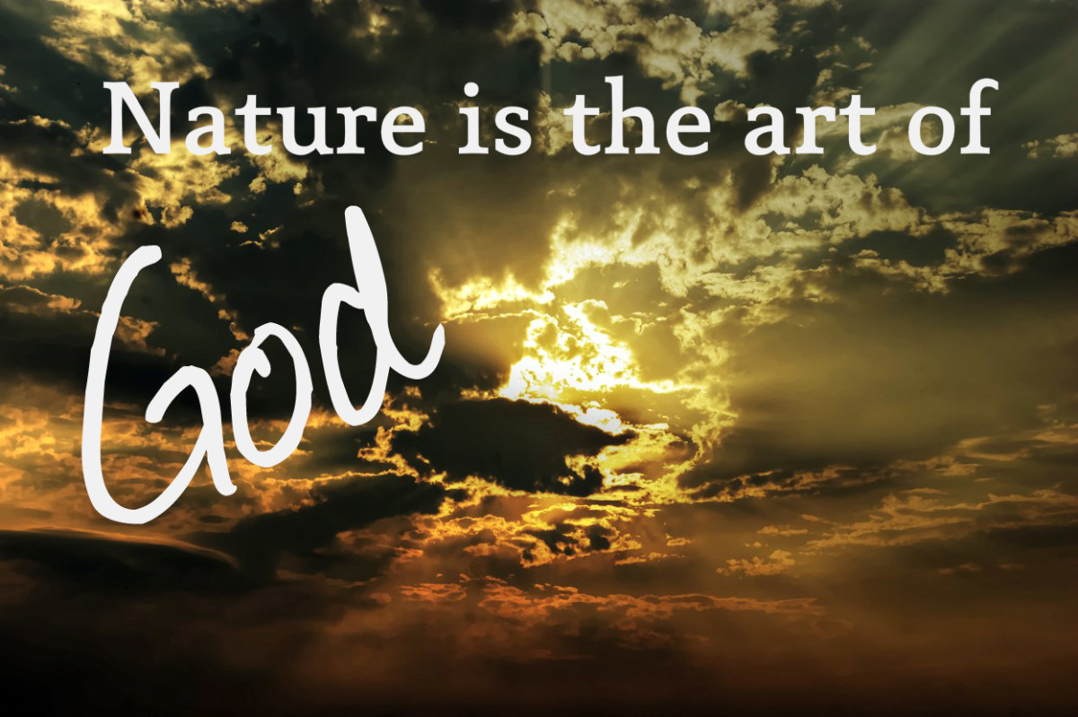 """Nature is the art of God."" - Dante, Italian poet"
