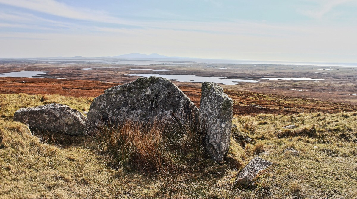 Peaty moorland and small, freshwater lochs are common on North Uist.
