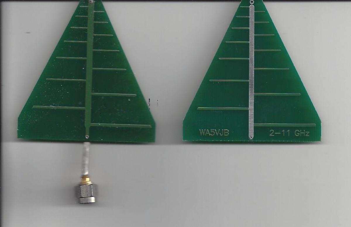 ANSI J-standards apply to the solderability of printed circuit boards like these PCB antennas by WA5VJB.