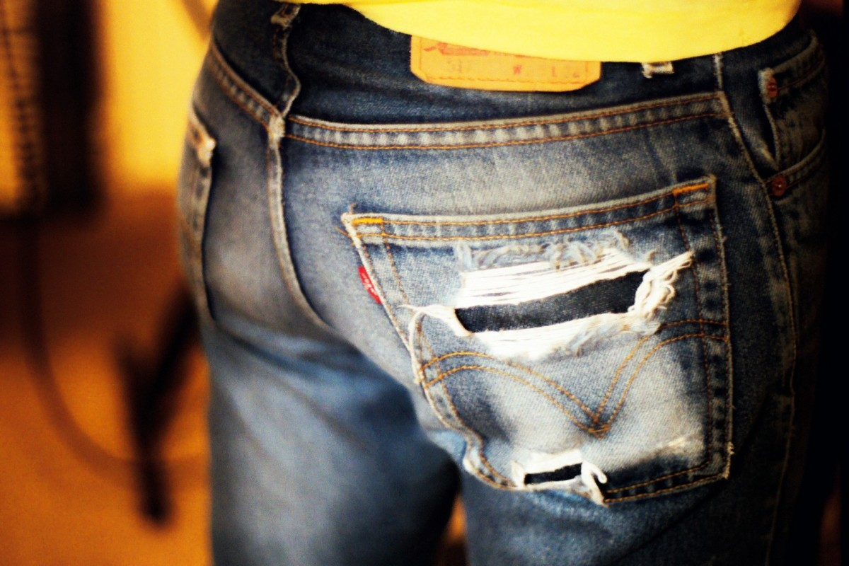 Sir, there's a hole in your very nice jeans.