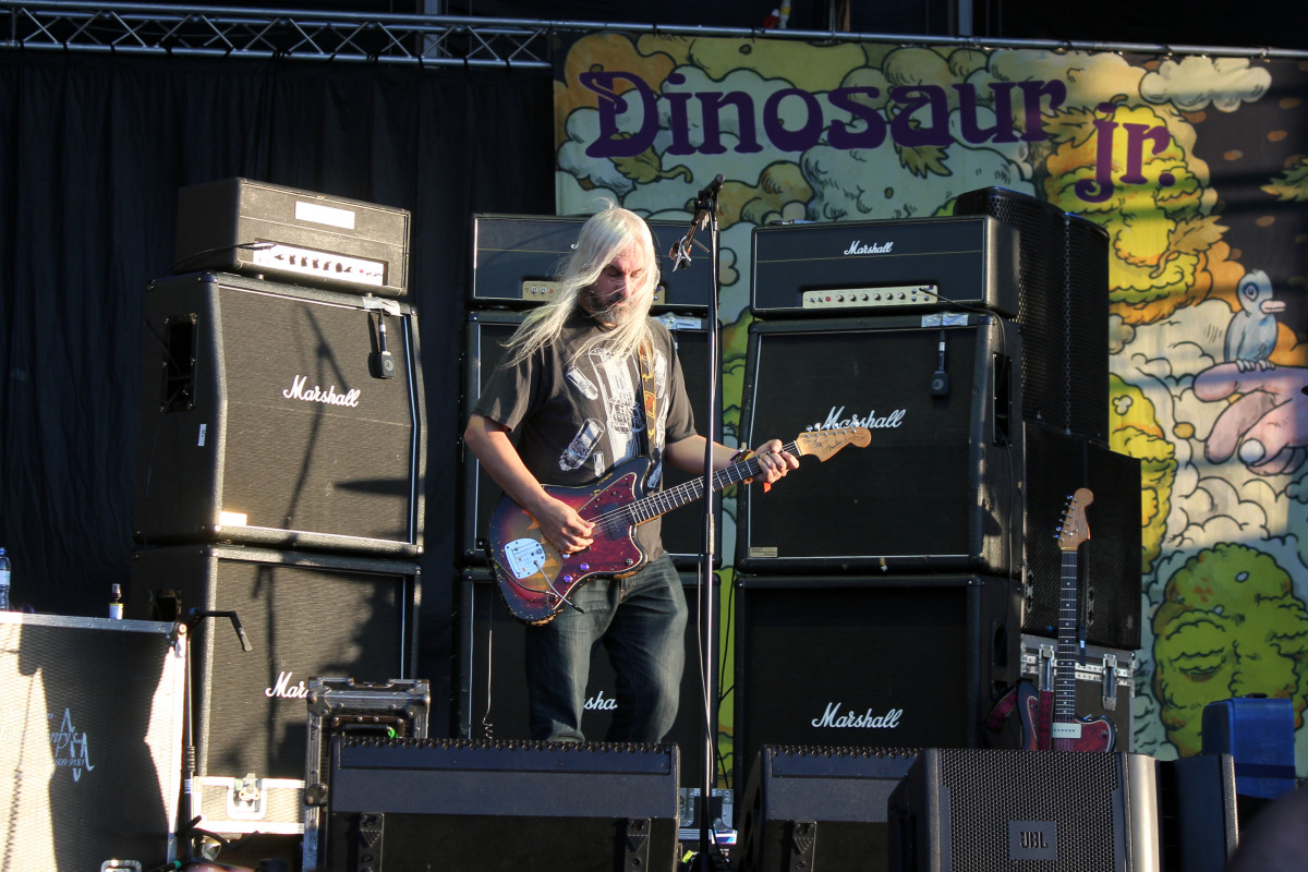 J. Mascis of Dinosaur Jr. onstage in 2013.