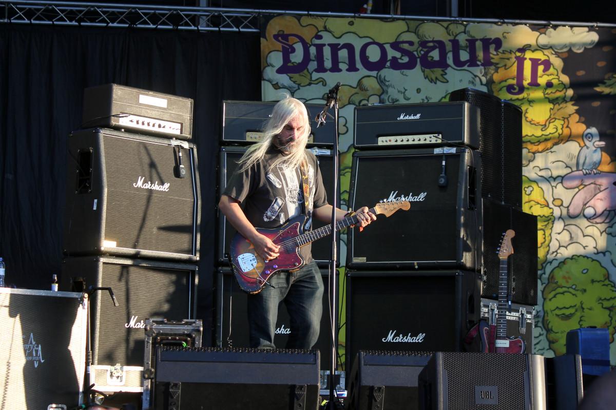 J. Mascis of Dinosaur Jr. onstage in 2013.