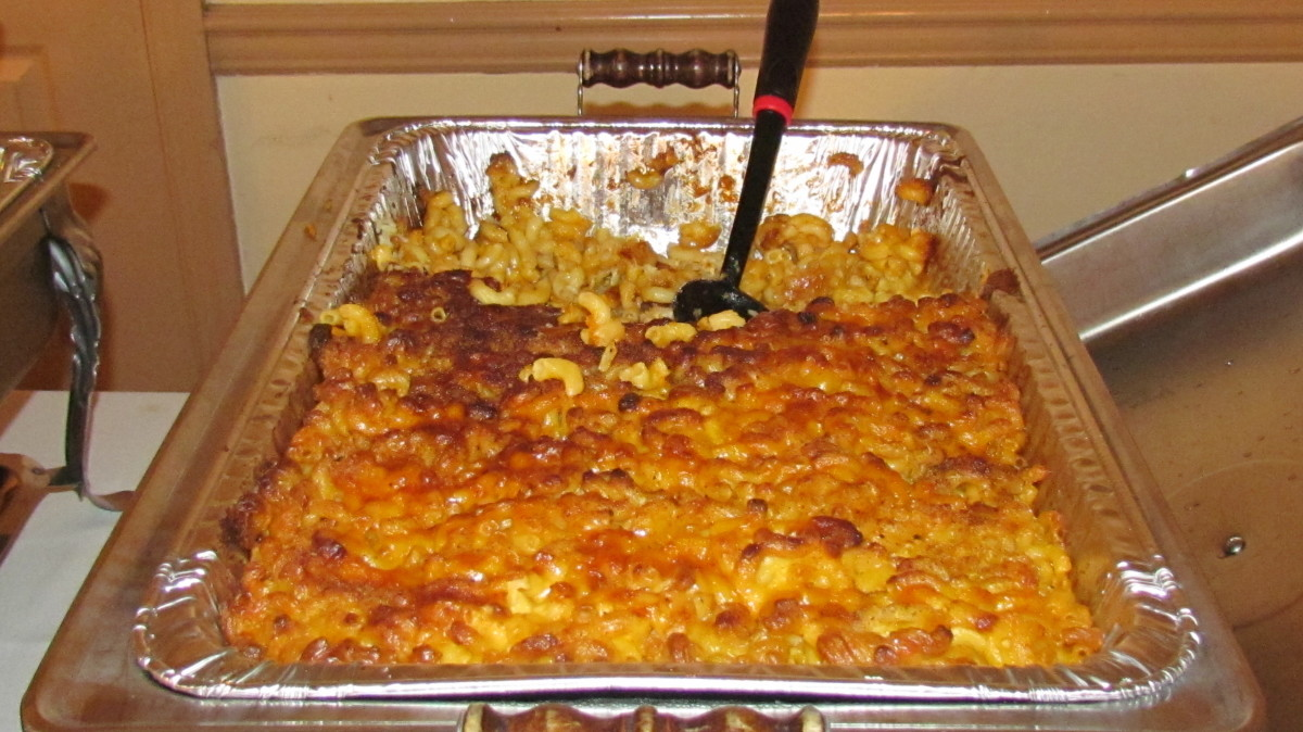Macaroni and cheese prepared by Sheila Coley.