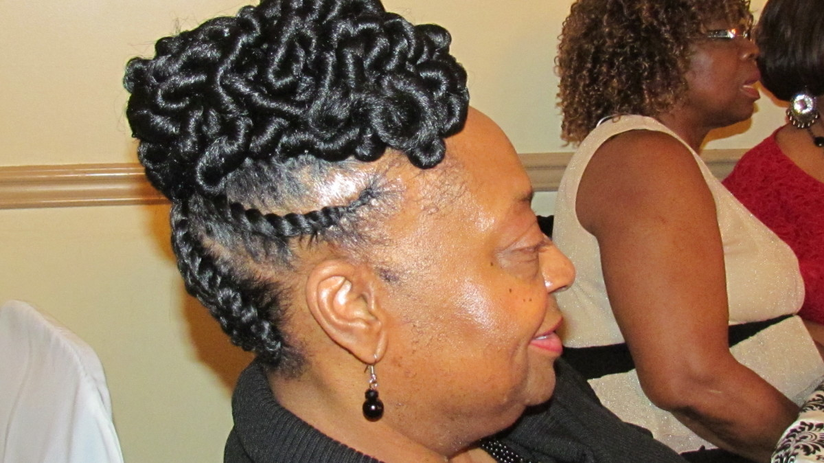 Bonita, from Delaware posed for this photo with her beautiful and unique hairstyle.