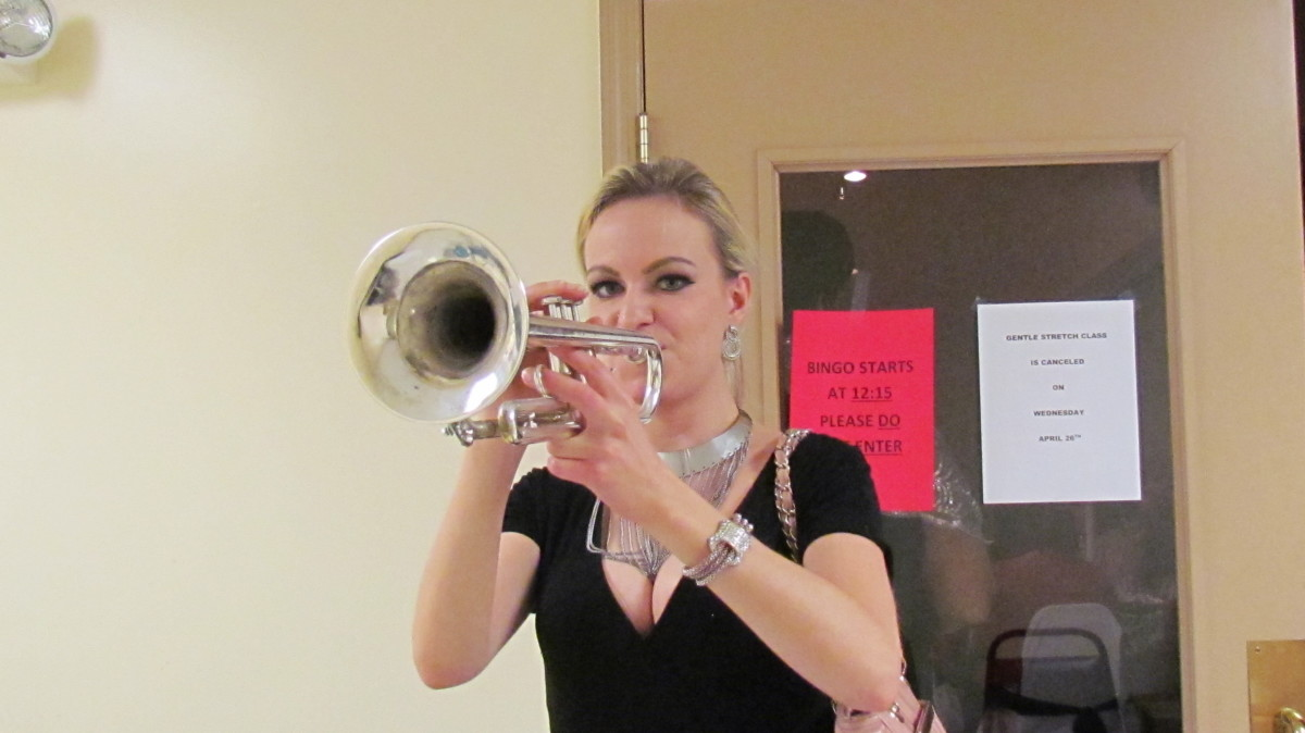 Mary Lawrence, referred to as M-Law has played trumpet with Diversified Group for about a year.