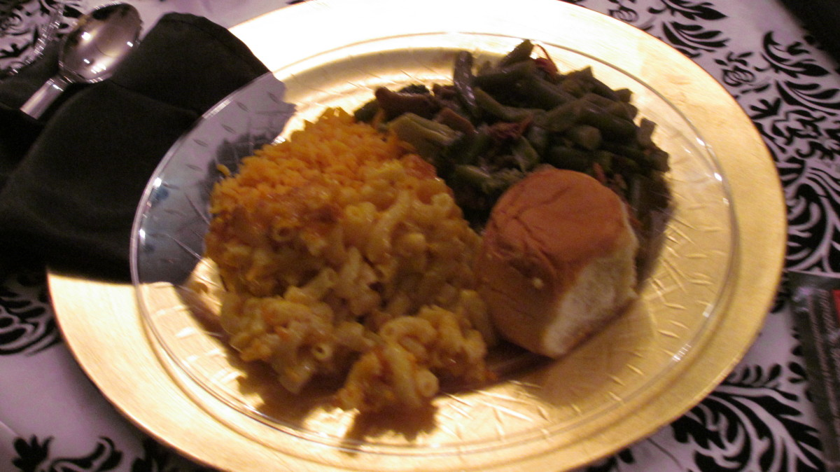 Delicious food was served before the Classic Soul performances began.