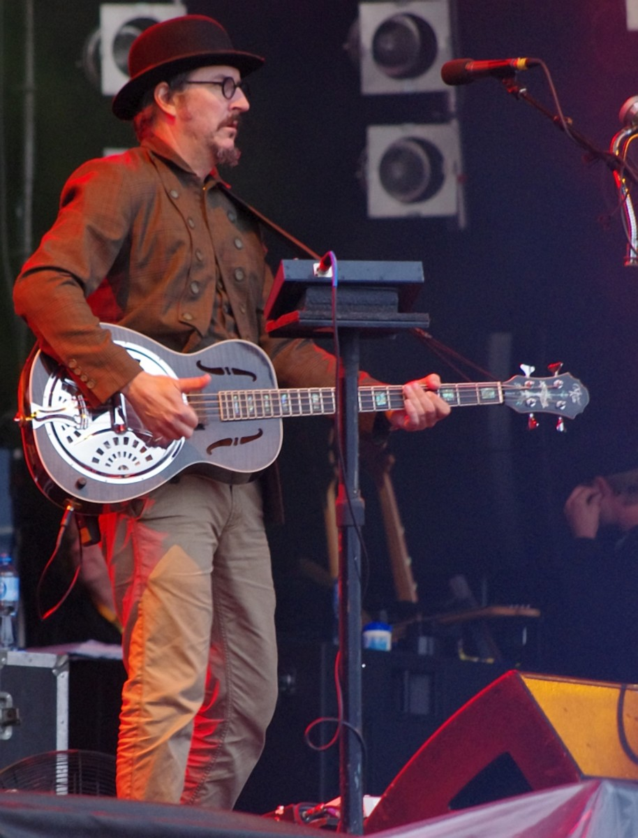 Les Claypool onstage with Primus in Poland, 2011.