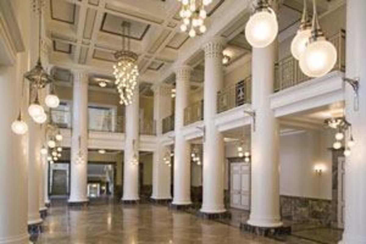 Arch lighting in the Schirmerhorn Symphony Center