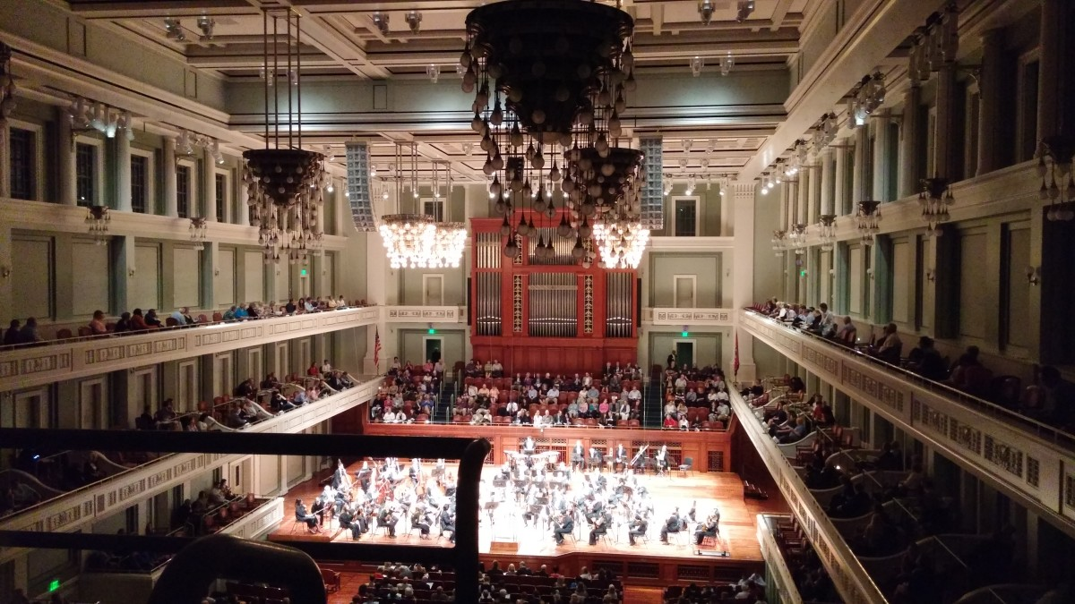 A beautiful evening at the Nashville Symphony. February, 2017