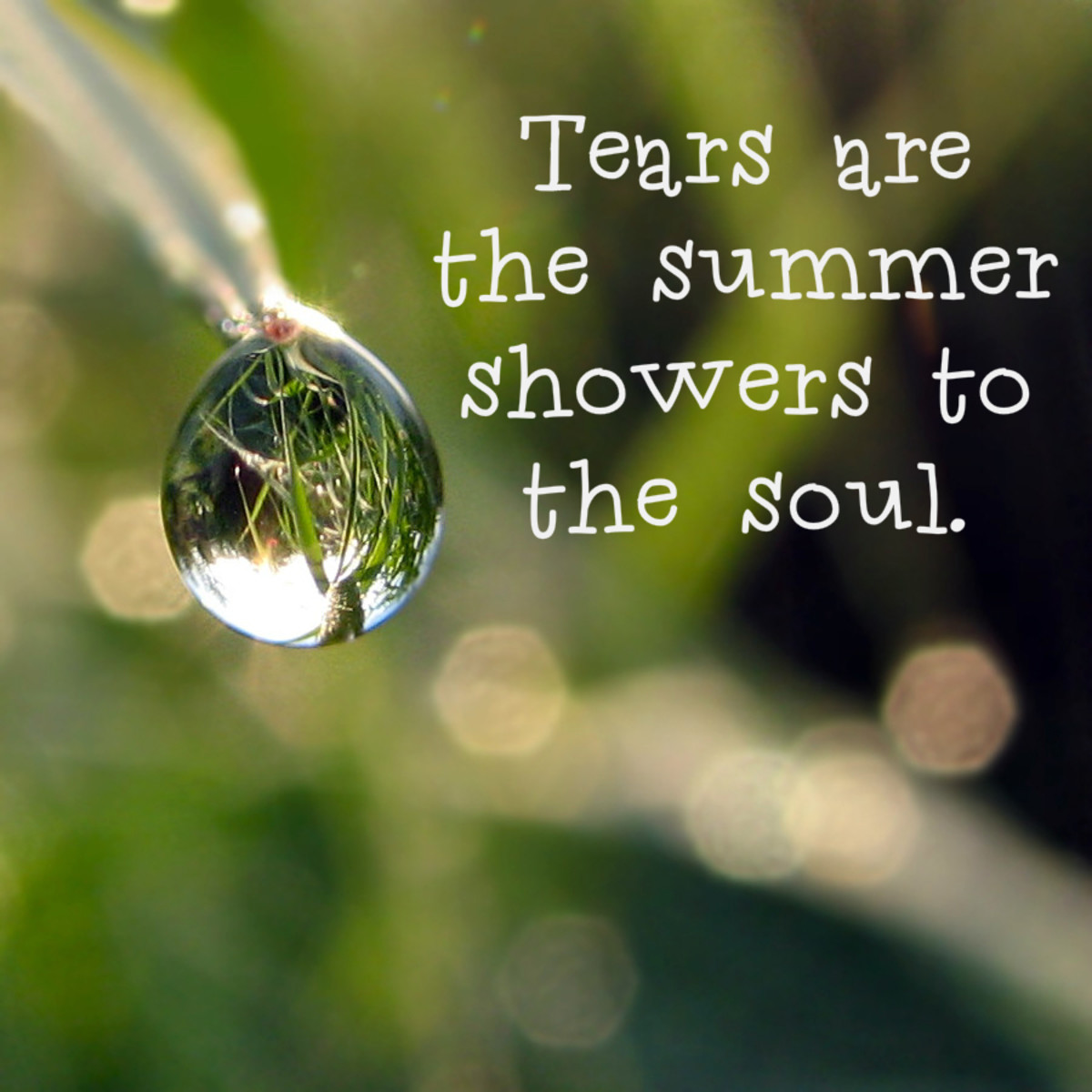 """Tears are the summer showers to the soul."" - Alfred Austin, English poet"