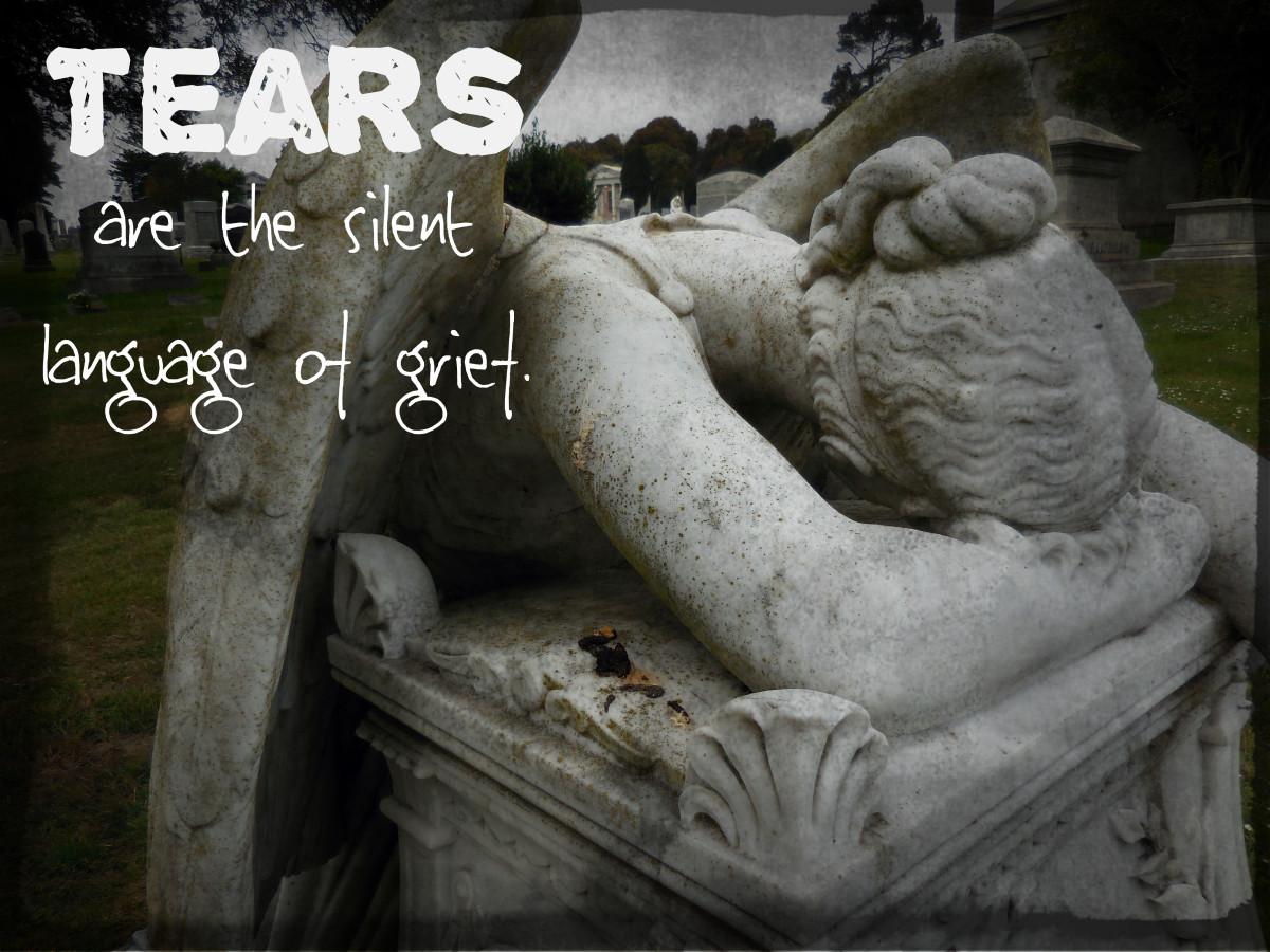 """Tears are the silent language of grief."" - Voltaire, French writer and philosopher"