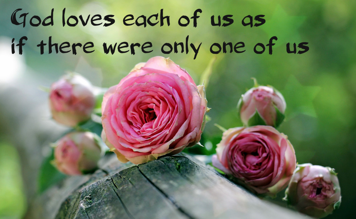 """God loves each of us as if there were only one of us."" - St. Augustine, early Christian philosopher"