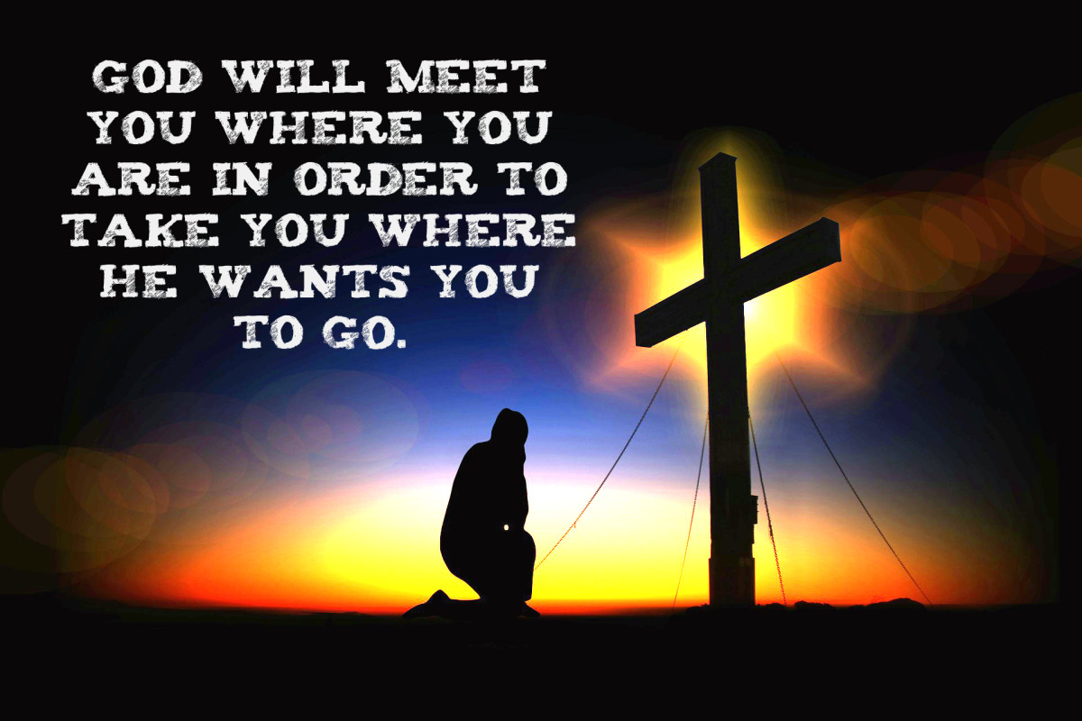 """God will meet you where you are in order to take you where He wants you to go."" - Tony Evans, American pastor"
