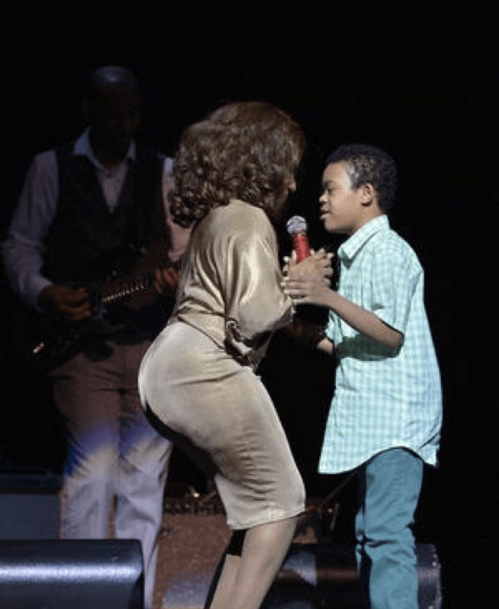 Stephanie Mills & her son, Farad