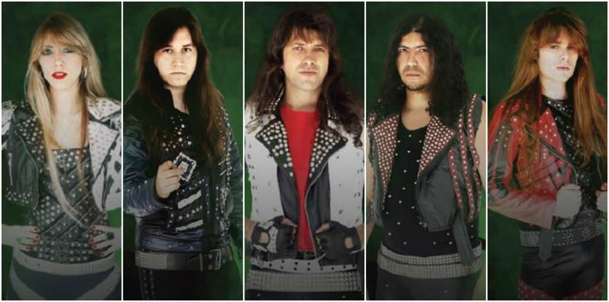 Fire Strike L-R: Aline Nunes (vox), Henrique Schuindt (guitar), Alan Cacador (drums), Edivan Diamond (bass), Helyad Amaro (guitar)