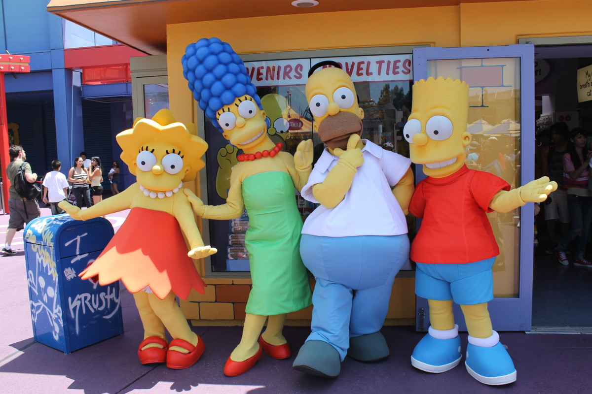"By the 1990s, adults finally had their own cartoons!  The Simpons tv show started in 1989 and the first decade was considered its ""golden age.""  The show made jokes about politics, business, and family life.  It's still on the air."
